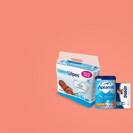 produtos para bebé, fraldas, toalhitas, papas