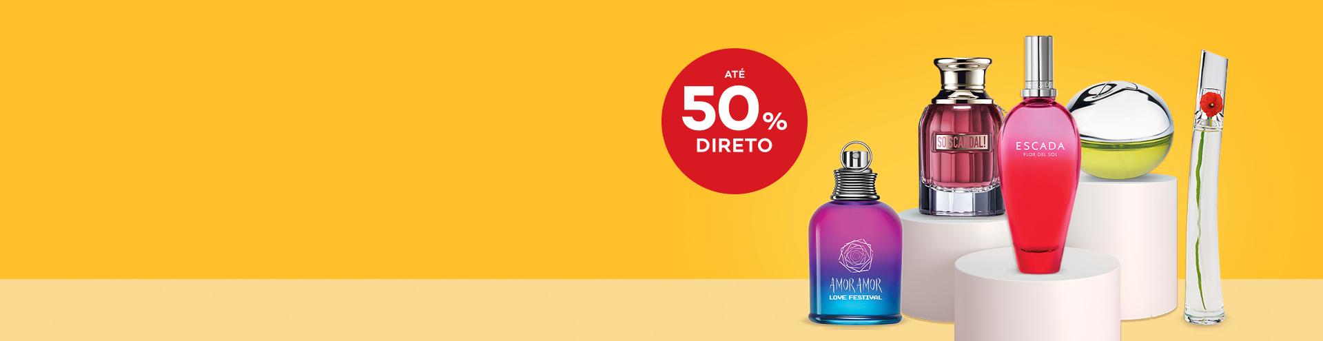 Perfumes 50% desconto